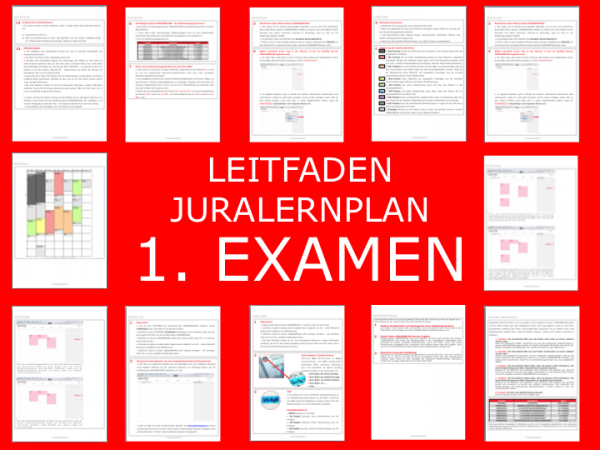 Produktbild 1. Examen - JURALERNPLAN Jura Lernplan Studium Examen